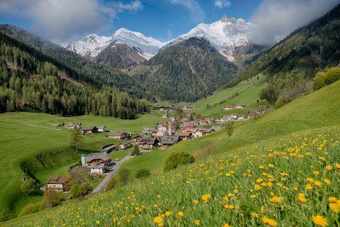 Blick auf das zauberhafte Ahrntal in Südtirol