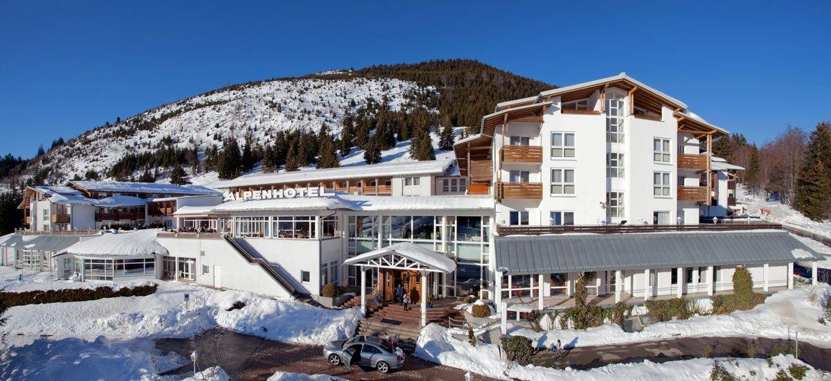 Winteransicht Des Alpenhotels Oberjoch