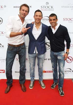 K11 Star Gerrit Grass, Daniel Stock Und Fussballer Francisco Copado Copyright: Sporthotel Stock