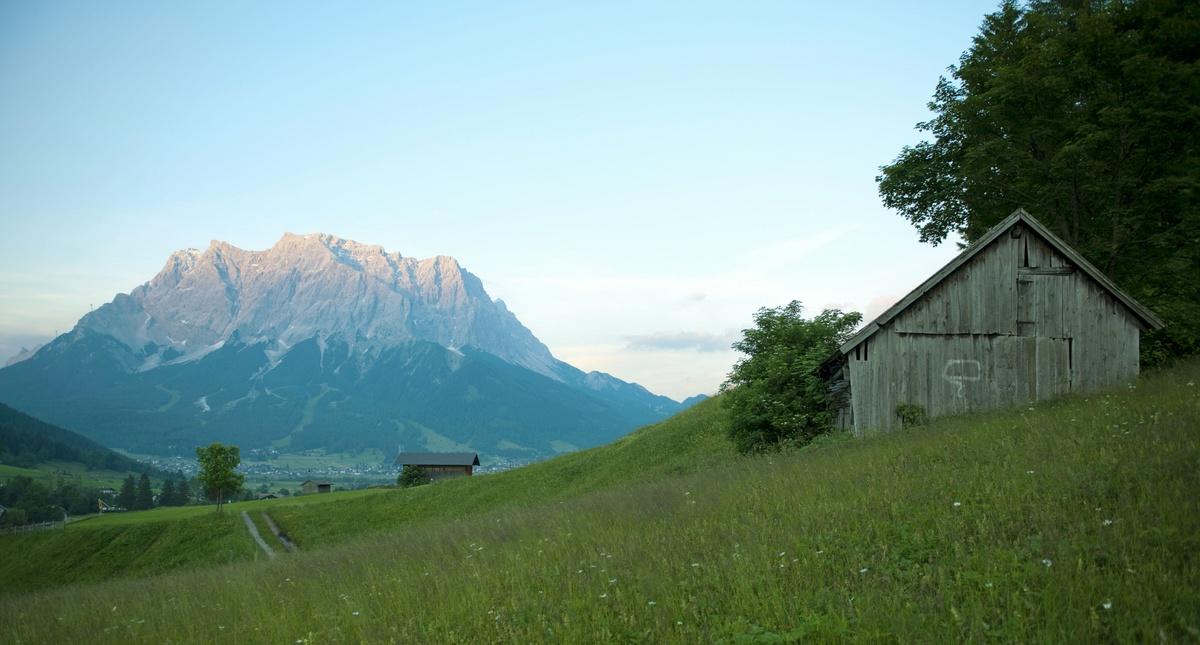 Wunderschöne Bergwelt Rund Um Die Zugspitze