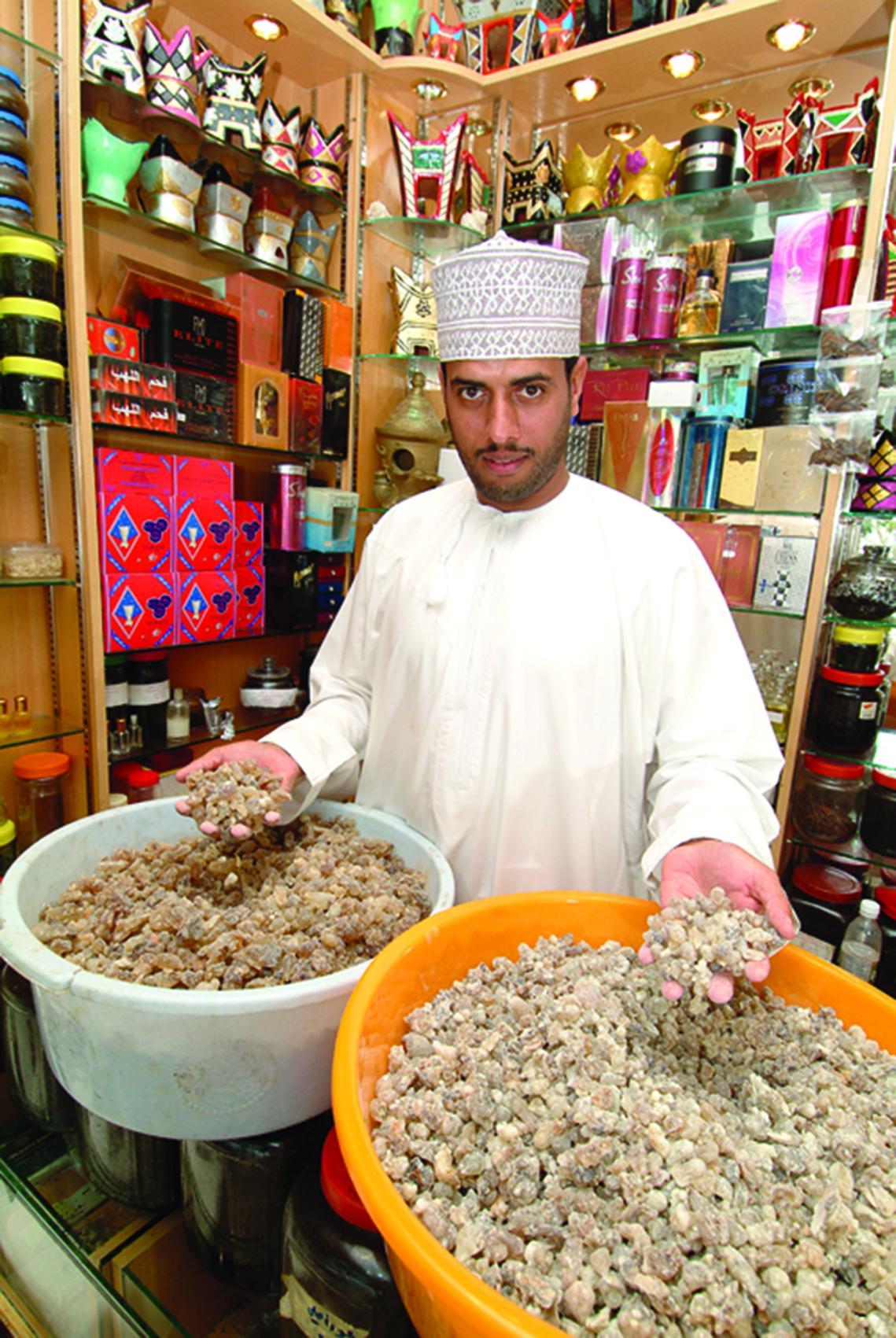 Weihrauch Händler Auf Dem Markt