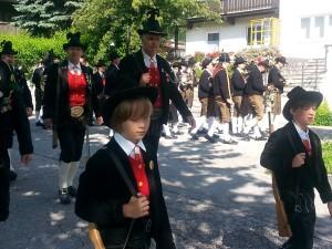 Hier werden Traditionen noch gelebt. Trachtenumzug in Schwaz