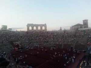 Arena von Verona: Der Spektakl beginnt gleich.