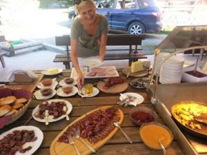 Frühstück auf der Bichlalm