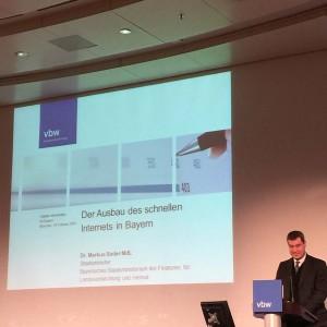Vortrag von Dr. Markus Söder MdL über den Ausbau des schnellen Internets in Bayern
