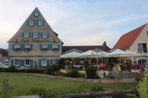 Restaurant zum Hochreiter - ein beliebter Treffpunkt auf der Terasse am Brombachsee