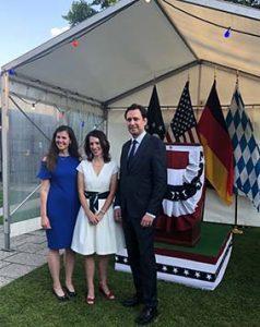Michelle Burton, US Consulate General Frankfurt, designierte US_Generalkonsulin München Meghan Gregonis, Staatsminister Eisenreich