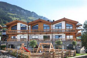 Außenansicht der Tauernsuiten   Quelle: Alps Residence